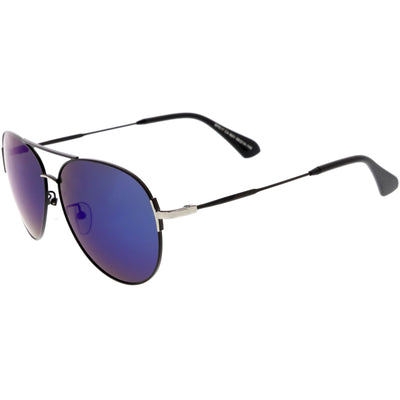 Oversize Metal Arms Polarized Lens Aviator Sunglasses C886