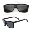 Action Sport Large Flat Top Polarized Lens Rectangle Sunglasses C890