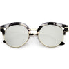 Chic Round Metal Arms Polarized Flat Lens Cat Eye Sunglasses C896