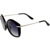 Women's 1950's Oversize Geometric Polarized Lens Sunglasses C900