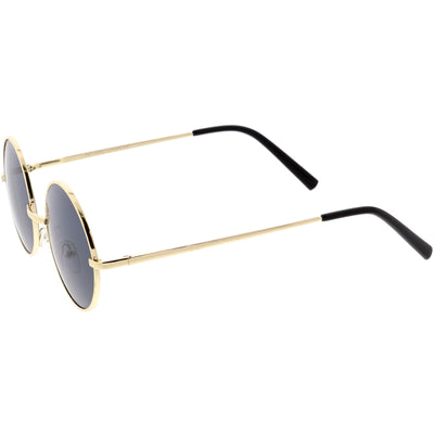 Vintage Inspired Small Round Thin Metal Frame Retro Lennon Sunglasses C919