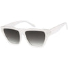 Retro Modern Horned Rim Flat Top Square Aviator Sunglasses C920