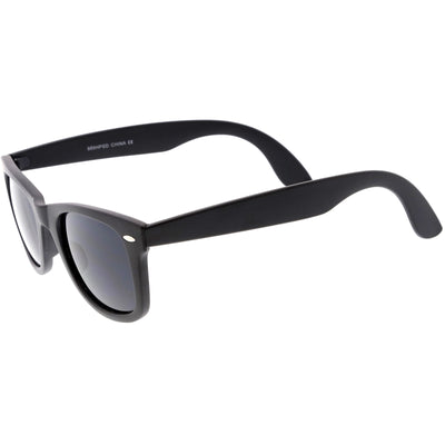Classic Small Frame Wide Arms Dark Lens Horn Rimmed Sunglasses C923