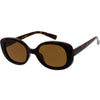 Retro Polarized Lens Wide Arms Oval Sunglasses C926