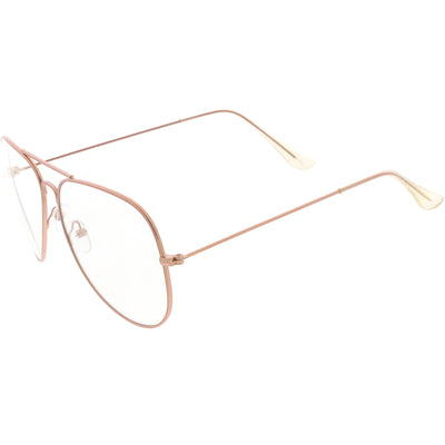 Retro Classic Full Metal Tear Drop Clear Lens Aviator Glasses C936