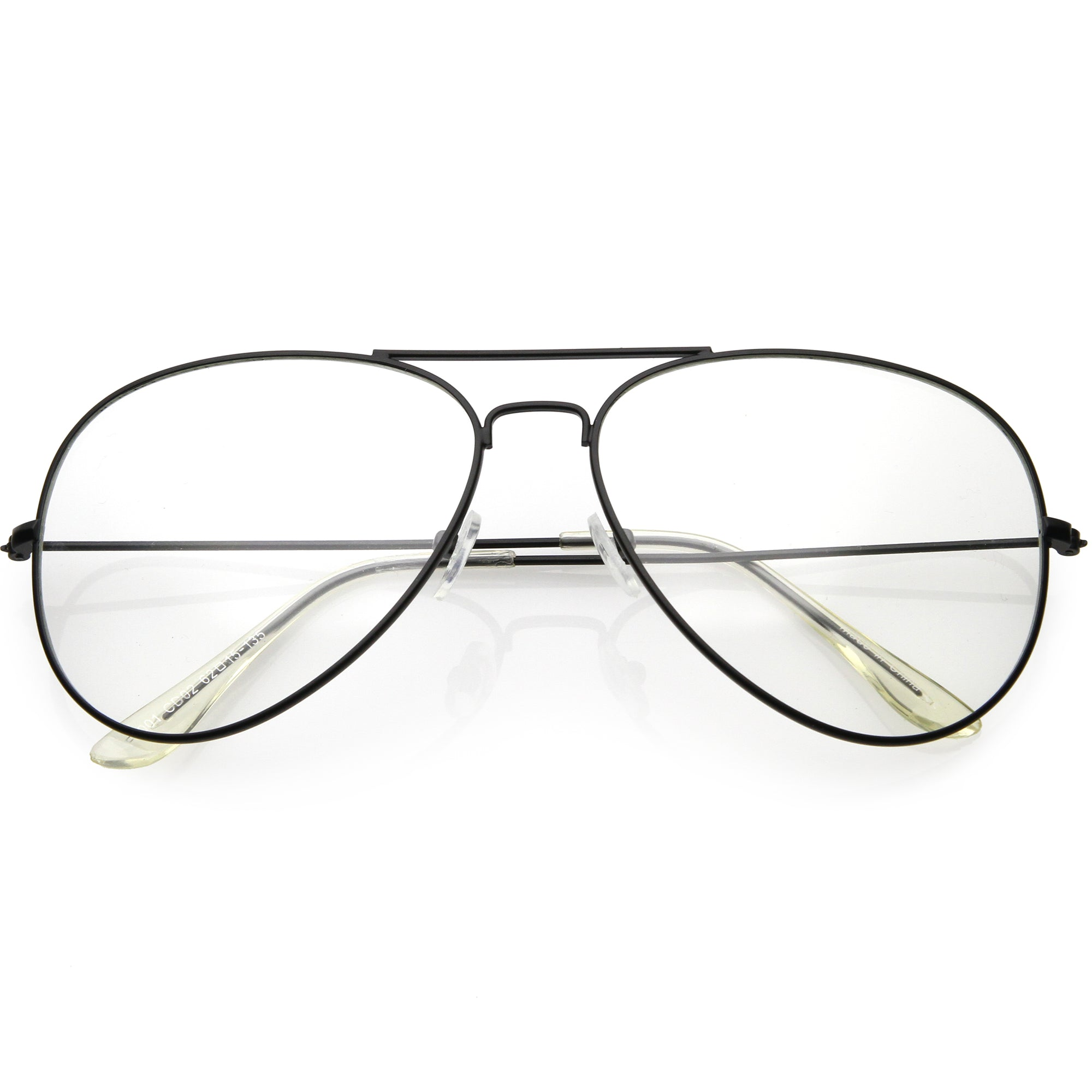 Classic Vintage Retro Aviator Clear Lens Glasses Tear Drop Style Metal Frame