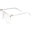 Oversize Flat Top Hipster Clear Lens Aviator Glasses C937