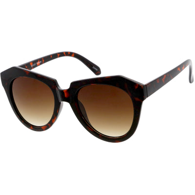 Women's Oversize Geometric Round Cat Eye Sunglasses C938