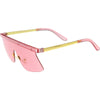 Retro Modern Blade Cut Shield Sports Sunglasses C941