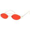 Retro Modern Small Metal Oval Crossbar Color Tone Lens Sunglasses C944
