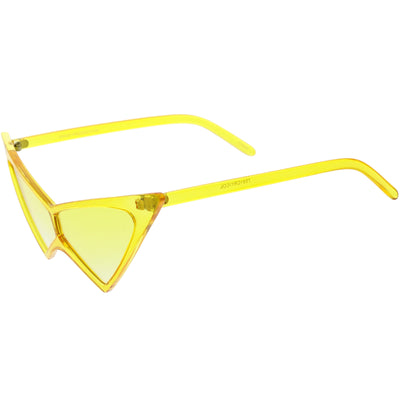 Women's Rock N Roll Color Tone Sharp Tip Cat Eye Sunglasses C945