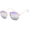 Retro Geometric Gradient Dual Color Metal Flat Lens Sunglasses C946