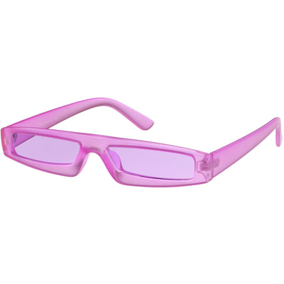 Retro 1990's Transparent Frosted Color Movie Sunglasses C948