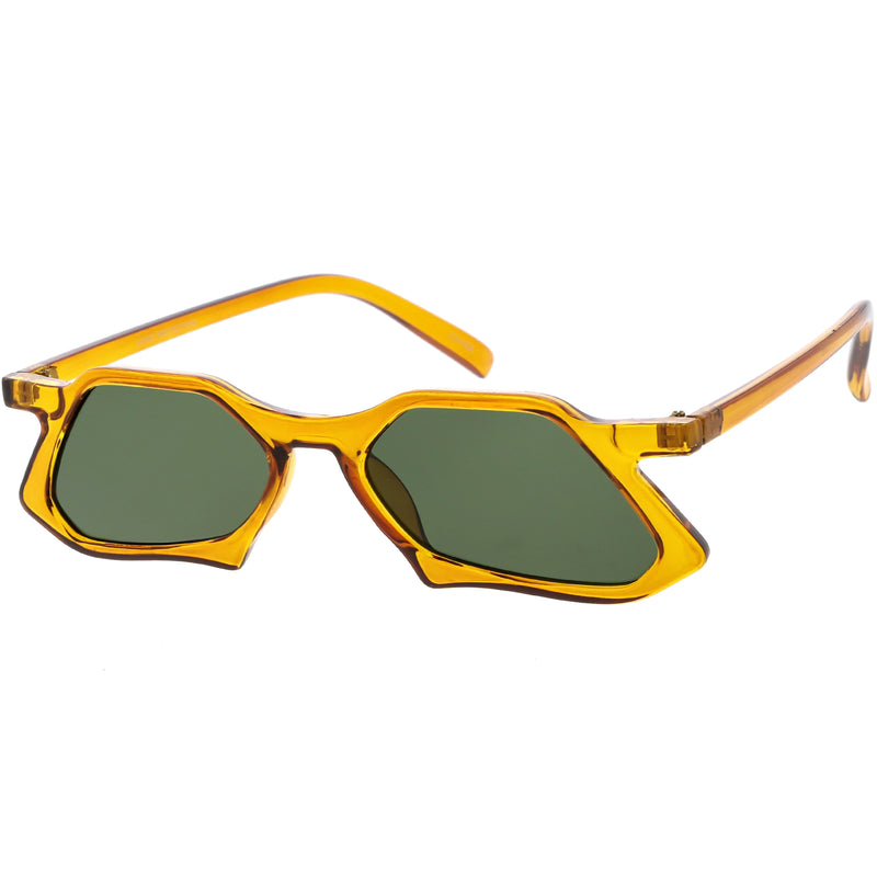 Retro Unique Groovy Geometric High Temple Sunglasses C949