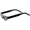 Women's Small Retro Angled Thick Frame Cat Eye Sunglasses C952