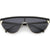Retro Futuristic Flat Top Mono Shield Blade Sunglasses C953