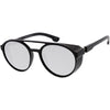 Retro Steampunk Side Vented Mirrored Lens Goggle Sunglasses C955