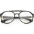 Retro Steampunk Disco Biker Clear Lens Vented Glasses C956