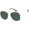 Vintage Dapper Square Crossbar Metal Aviator Sunglasses C959
