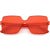 Large Retro Modern Square Mono Block Color Tone Sunglasses C961
