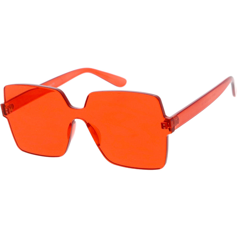 c2ef13192d3f Large Retro Modern Square Mono Block Color Tone Sunglasses C961