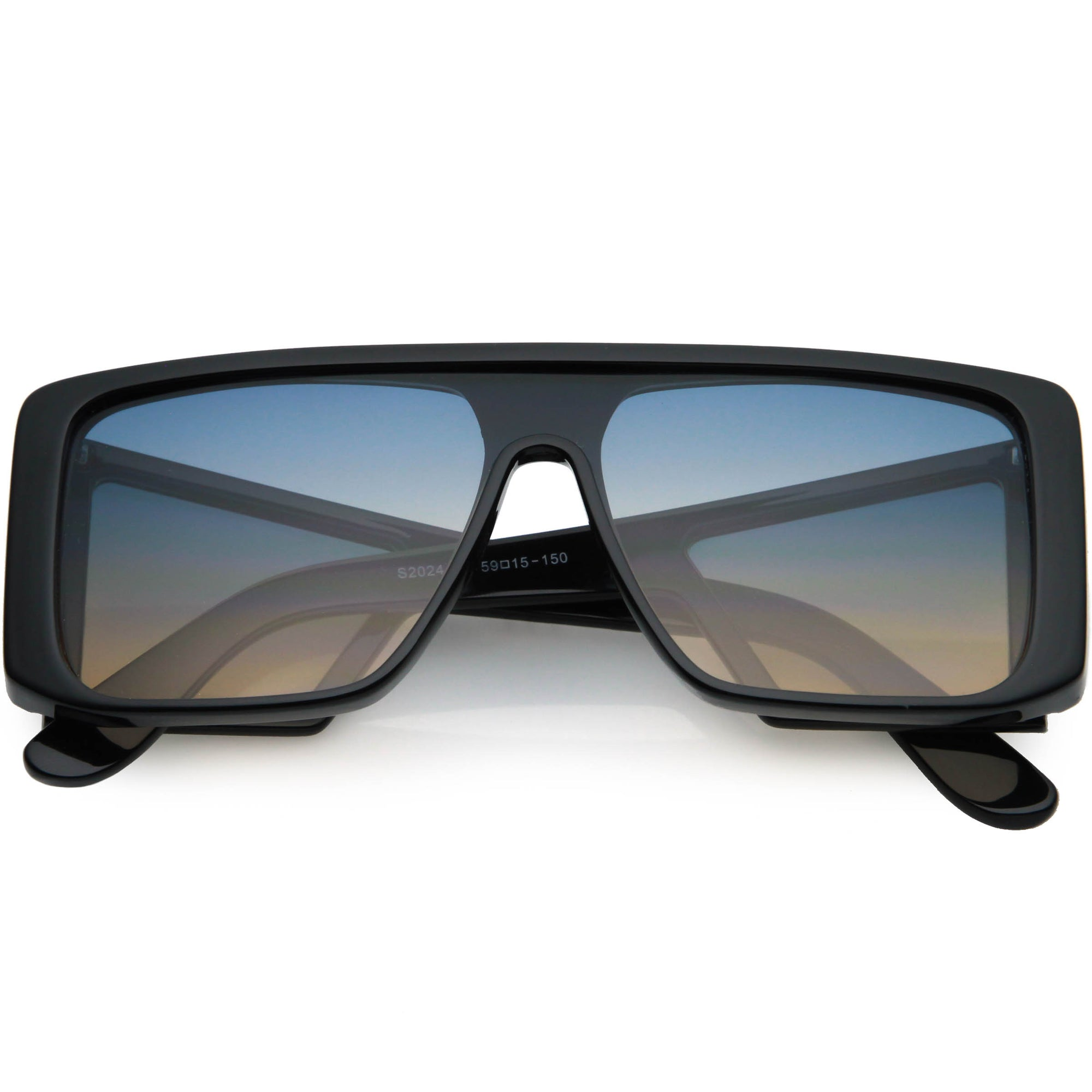 Oversize Retro Modern Square Side Window Shield Sunglasses C963