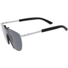 Futuristic Space Shield Metal One Piece Aviator Sunglasses C965