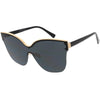 Oversize Modern Women's Shield Mono Lens Cat Eye Sunglasses C967