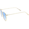 Women's Modern Geometric Thin Metal Frame Sunglasses C968