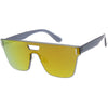 Modern Sports Fashion Rimless Flat Lens Shield Sunglasses C970