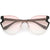 Oversize Women's Laser Cut Mono Lens Cat Eye Sunglasses C973