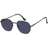 Vintage Small Classic Dapper Geometric Metal Frame Sunglasses C974