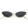 Retro Vintage Inspired Thin Metal Frame Color Tinted Lens Cat Eye Sunglasses C977