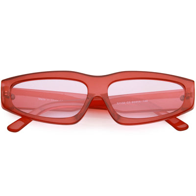 Retro Fashion 90s Style Thick Frame Plastic Rectangle Sunglasses C979