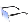 Oversize Retro Modern Square Mono Flat Lens Shield Sunglasses C981