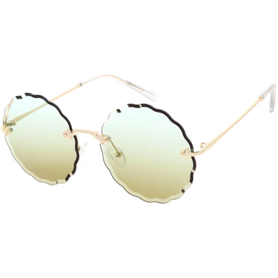 Women's Retro 1970's Round Gradient Gem Lens Sunglasses C983