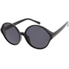 Women's Oversize Retro Disco Round Circle Translucent Sunglasses C984