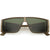 Retro Modern Action Sports Wrap Around Shield Sunglasses C987