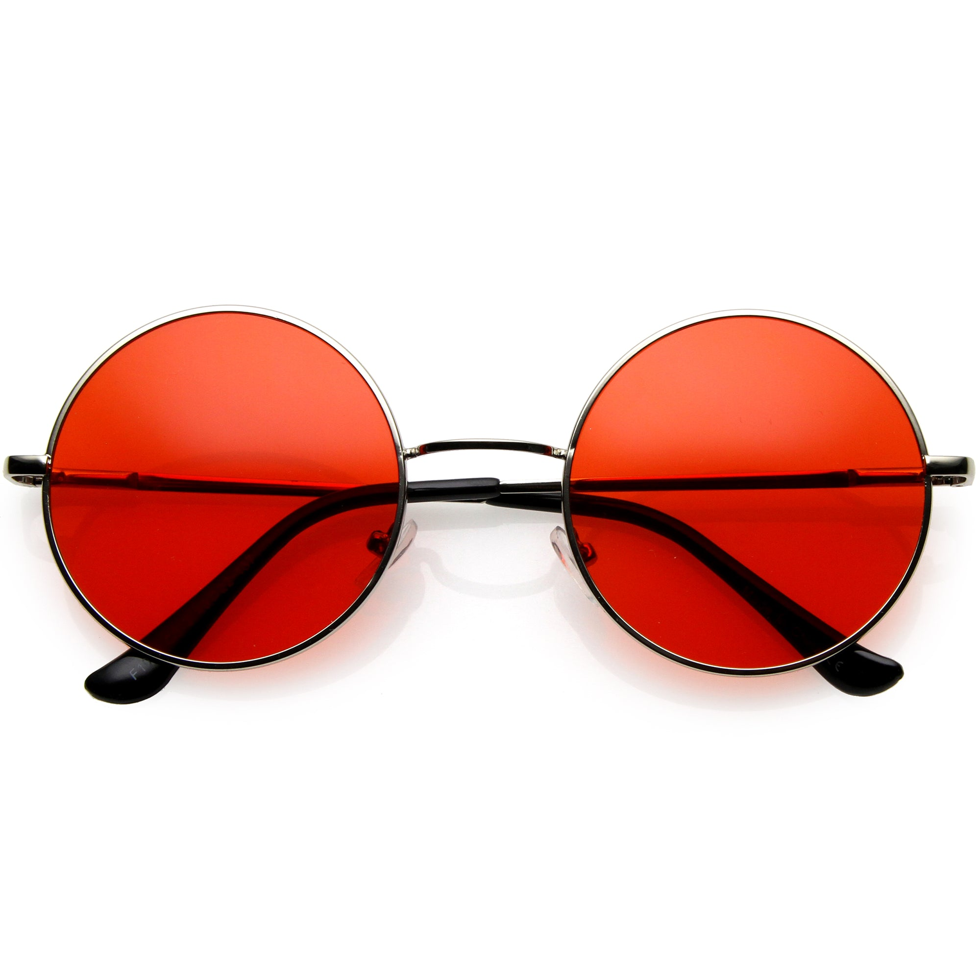 Classic Lennon Style Gradient Colored Lens Thin Metal Frame Round Sunglasses C990