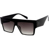 Modern Oversize Flat Top Design Bold Thick Arms Square Sunglasses C991