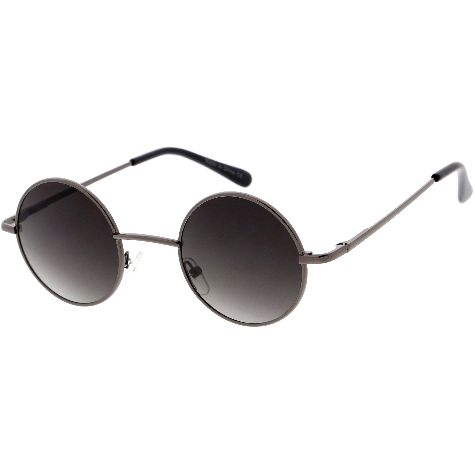 Retro Small Lennon Style Neutral Colored Lens Round Sunglasses 45mm C997