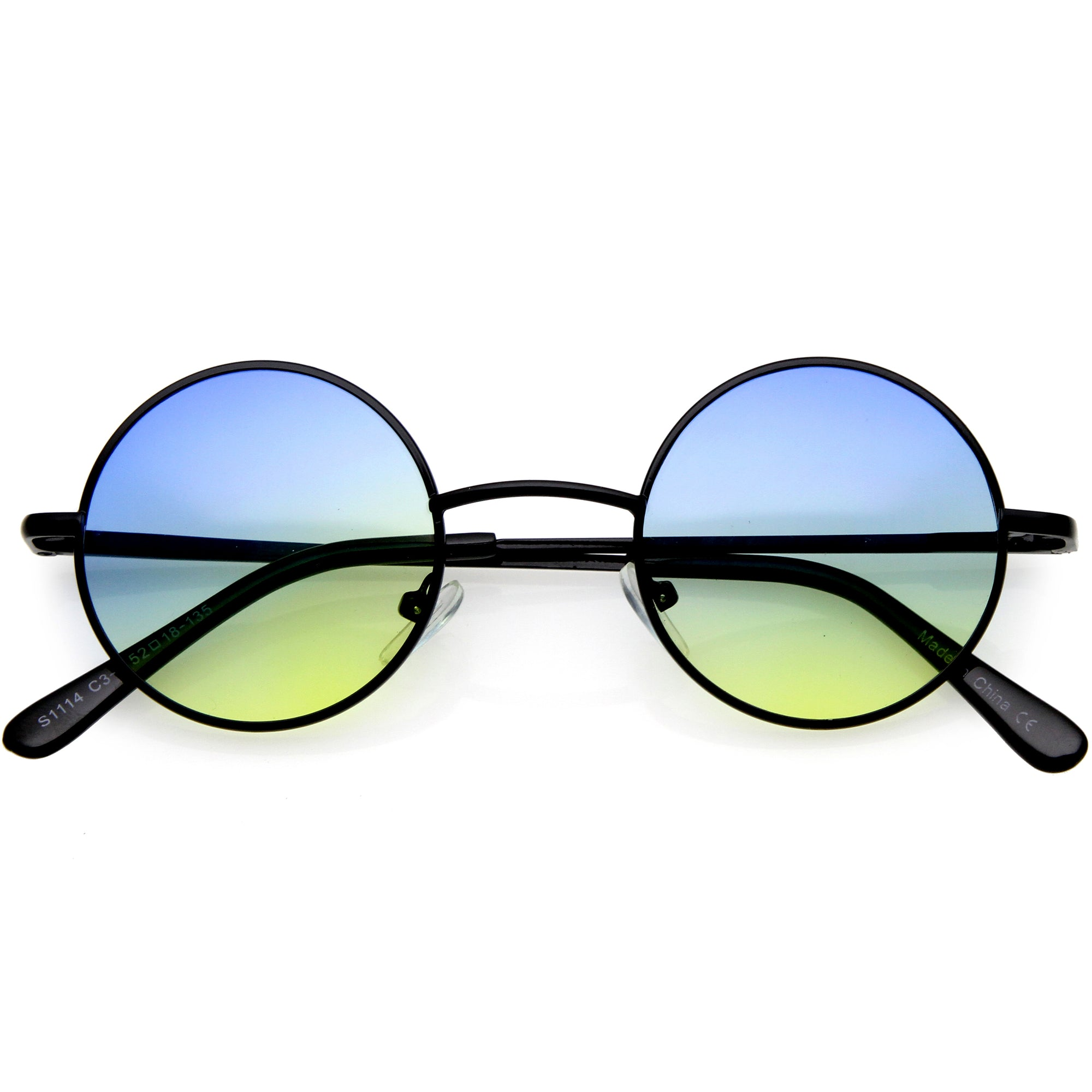 Small Slim Metal Colored Tinted Lens Retro Lennon Style Sunglasses 45mm C998