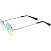 Small Slim Metal Colored Tinted Lens Retro Lennon Style Sunglasses 42mm C998
