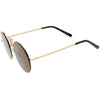 Full Rimless Metal Mesh Crossbar Nose Bridge Pilot Round Sunglasses D003