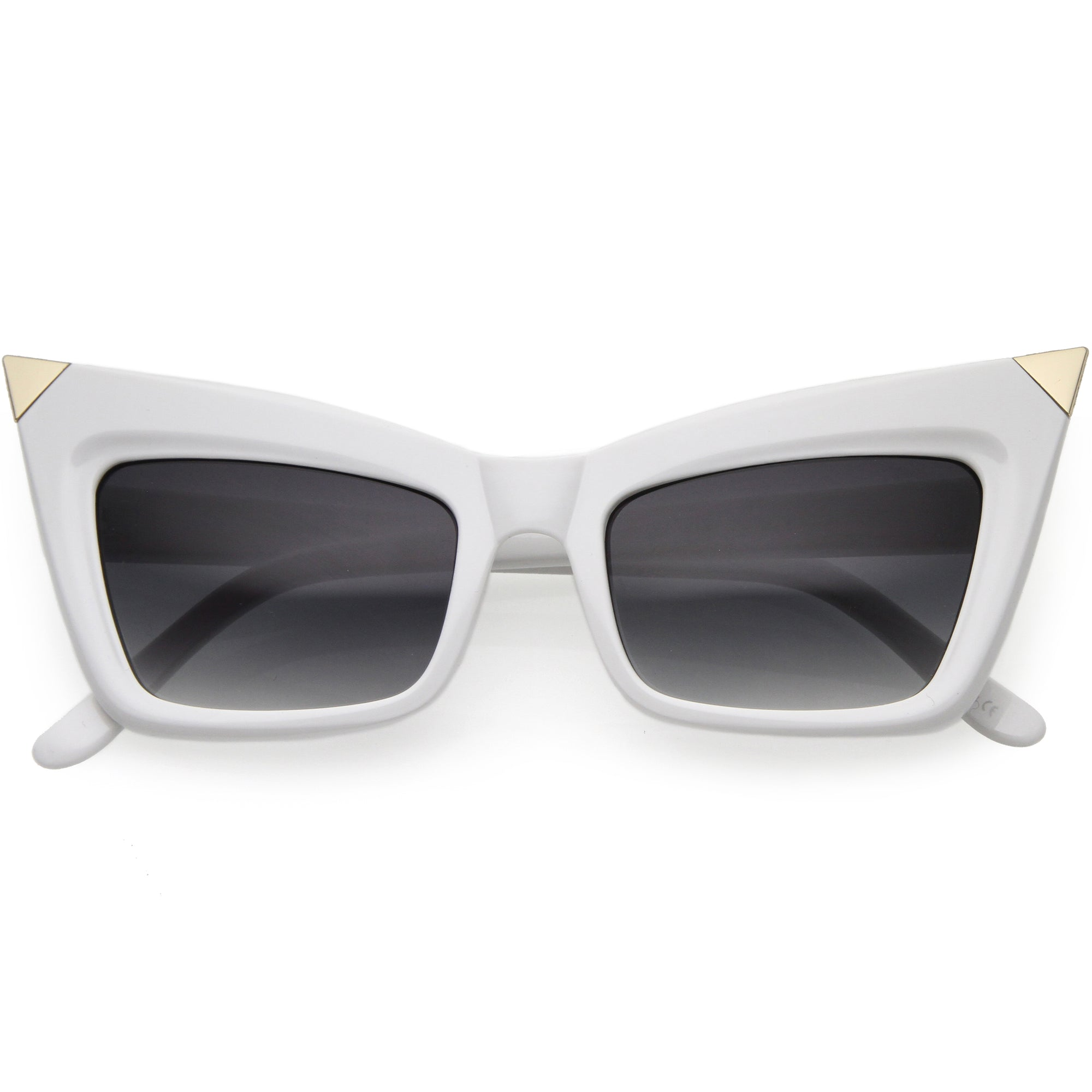 Sharp High-Pointed Metal Tip Designer-Inspired Fashion Cat Eye Sunglasses D004