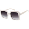 Disco 1970s Glam Inspired Thick Oversize Retro Square Sunglasses D008