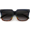 Bold Euro Designer Inspired Fashion Oversize Square Sunglasses D009