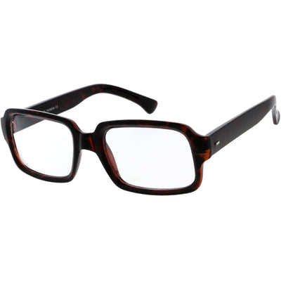 Casual Thick Rimmed Retro Rectangle Blue Light Glasses D012