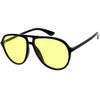 Classic 80s Inspired Color Tinted Lens Retro Aviator Sunglasses D015