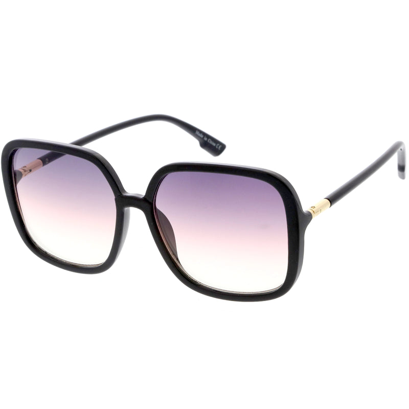 Oversize Elegant Lightweight Neutral Gradient Lens Women's Square Sunglasses D057